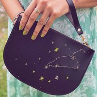 Stitch Your Zodiac Sign Zip Clutch Bag