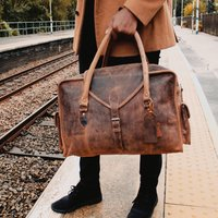 Globe Trotter Personalised Leather Travel Bag