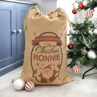 Personalised Christmas Santa Claus Hessian Sack