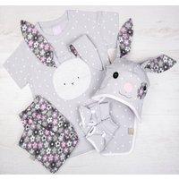 Girls Bunny Top, Leggings, Hat, Bib And Gloves Set