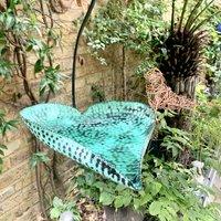 Verdigris Hanging Birdbath