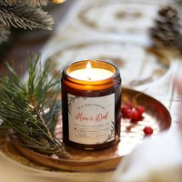 Personalised Mum And Dad Christmas Candle