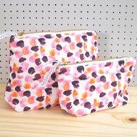 Painterly Petals Pink Makeup Bag, Pink