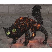 Black Cat Halloween Light Decoration