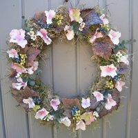 Hydrangea And Wax Flower Wreath