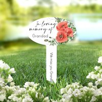 Personalised Poppy Garden Memorial Plaque Sign