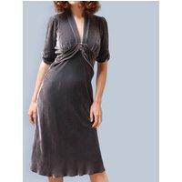1940s Style Silk Velvet Dress In Mink