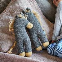 Dinky Donkey Soft Knit Toy