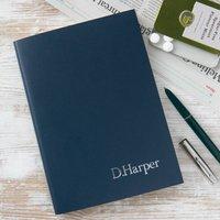 Personalised Notebook, Black/Cobalt Blue/Blue