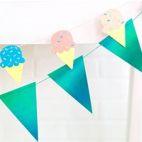 Ice Cream Bunting Party Decoration