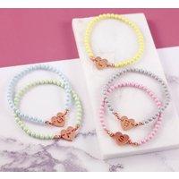 Personalised Pearl Initial Bracelet, Silver/Rose Gold/Rose