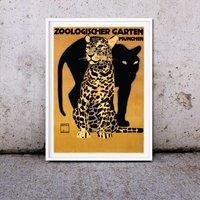 Framed Vintage Zoo Advertising Print