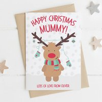 Cute Personalised Mummy Christmas Card