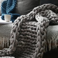 Super Chunky Cotton Knitted Blanket