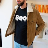 Boo! Halloween Mens T Shirt, Black/White