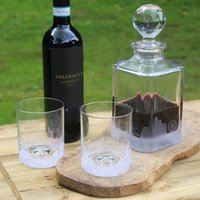 City Skyline Glass Decanter And Tumblers