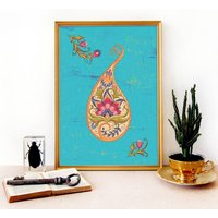 The Paisley Garden Art Print