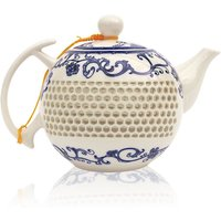 Pierced Porcelain Long Ceramic Tea Pot