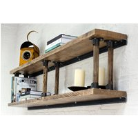 Letty Bespoke Shelves With Reclaimed Ladder Rung Risers
