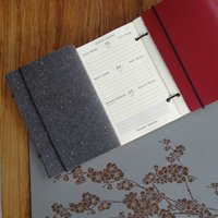 Personalised Mid Year Or Academic Leather Diary