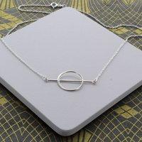 Circle And Bar Minimal Necklace