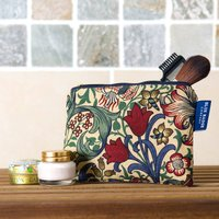 Cosmetic Purse In William Morris Golden Lily