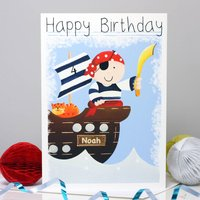 Personalised Pirate Boy Any Occasion Card