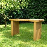 Personalised Oak Garden Bench