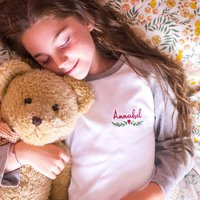 Personalised Embroidered Childrens Winter Pyjamas