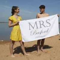 Luxury Mrs Beach Towel