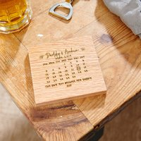 Personalised The Day You Became Coaster