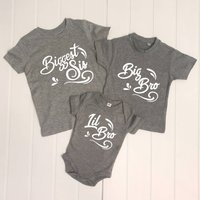 Sibling Waves Set Of Three T Shirts