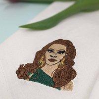 Bespoke Embroidered Portrait Napkin