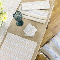 Four Person Dining Table Cotton Linen Set
