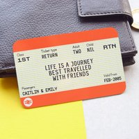Personalised Friendship Train Ticket Keepsake