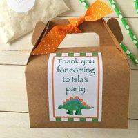 Personalised Dinosaur Baking Kit Party Bag