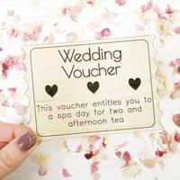 Wooden Wedding Voucher