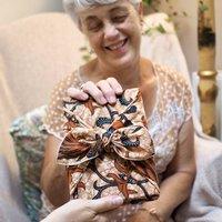 Reusable Recycled Fabric Gift Wrap 'Batik'