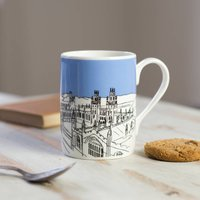 Oxford Bone China Mug 'Radcliffe Camera' Blue, Blue