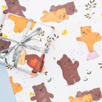 Bears Gift Wrap Set Of Two Sheets