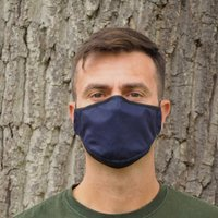Navy Blue Sustainable Adult Reusable Face Mask