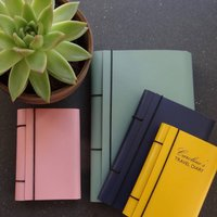 Recycled Leather Diary, Teal/Green/Aqua
