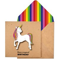 Handmade Magical Unicorn Personalised Birthday Card