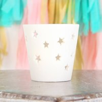 Ceramic Star Cut Out Tea Light Candle Holder