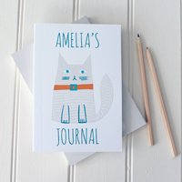Personalised Notebook 'Cute' Cat