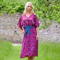 Jacinda Pure Silk Vintage Print Dress