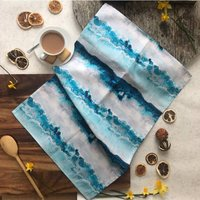 Springtide Ocean Blue Stripe 100% Cotton Tea Towel