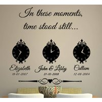 In These Moments Time Stood Still Wall Sticker, Orange/Yellow/Apple Green