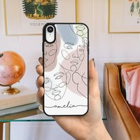 Personalised Hand Drawn Line Faces iPhone Case