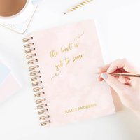 The Best Is Yet To Come Personalised Notebook